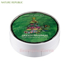 NATURE REPUBLIC Nature Origin Triple Color Tone-Up Cushion 15g [Green Holiday Edition]